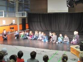 Workshopgruppe beim Publikumsgespräch